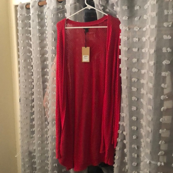 Halogen Sweaters - Halogen brand new bright red cardigan
